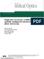 Single-shot two-frame π-shifted spatially multiplexed interference phase microscopy