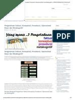 Pengetahuan Faktual, Konseptual, Prosedural _ Operasional Dasar Dan Metakognitif – LITERASI PEDAGOGI & TEKNOLOGI