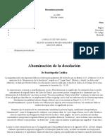 Abominación de La Desolación - Enciclopedia Católica