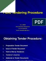 Fidic Tendering Procedure Presentation