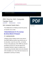 Composite Transfer Grant Under IREC Rule No.1643 is Given on Transfer