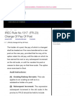 IREC Rule No.1317_ (FR-23) Change Of Pay Of Post _ Railway Rule
