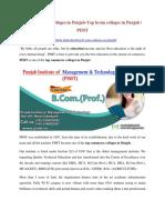Top commerce colleges in Punjab-Top bcom colleges in Punjab   PIMT
