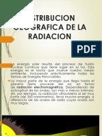 Distribucion Geografica de La Radiacion