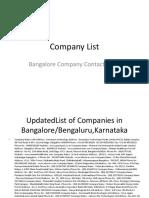 Company List 5
