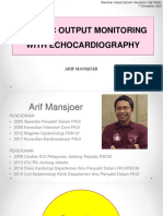 2018 11 07 JCCA Cardiac Output Monitoring With Echocardiography - Arif Mansjoer
