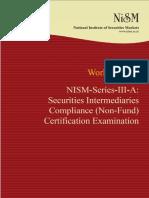 NISM Series III a Securities Intermediaries Compliance NF Certication Exam