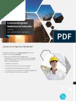 SUO 1. Funciones Del Ingeniero Residente en La Construcción