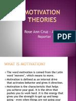 Motivation Theories Ppt