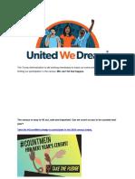UWD - Take the #CountMeIn Pledge