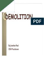 Demolition and Explosives