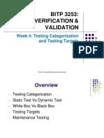 Week 4- Testing Categories and Testing Target