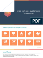 Intro to Sales Systems & Operations