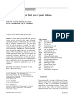 Reuse Options for Coal Fired Power Plant Bottom Ash and FA