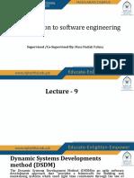 lecture 9 S.E
