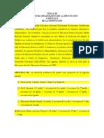 TÍTULO III. Estructura Organizativa