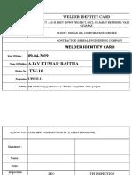 Welder Id Card Dhaval