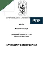 Ensayo, Marco Legal, Inversion y Concurrencia