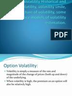 Options Volatility Historical and implied volatility, volatility.pptx