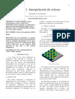 Practica 2. Interpolacion de Colores