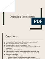 Operating Investments