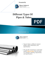 Different Types of Pipes & Tubes