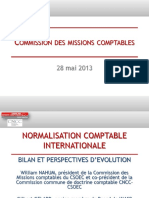 Bilan de La Normalisation Comptable Internationale - 28 Mai 2013