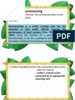 Formats in Summarizing