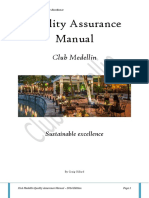 Quality Assurance Manual Club Medellin