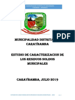 Caracterizacion de Rr.ss. Caraybamba