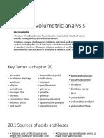 Ch 20 Volumetric Analysis