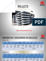Chemistry Required in Billets