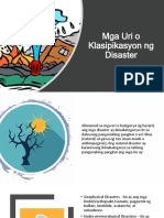 Mga Uri o Klasipikasyon Ng Disaster Pt.2