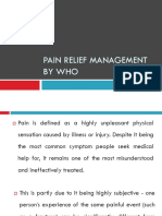 Pain relief Management by who.pptx
