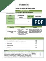 SESION DE APRENDIZAJE EL USO DEL GRAFEMA S - C - Z - ACCIDENTES DEL VERBO Y MODOS DEL PREDICADO.docx