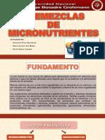 PREMEZCLAS formulacion