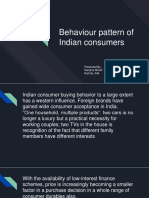Behaviour Pattern of Indian Consumers