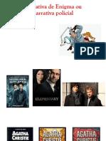 narrativa de enigma - slides para explicação
