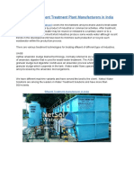 MS Compact Effluent Treatment Plant Manufacturers in India
