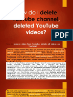 How to remove video from youtube, delete all videos on youtube?