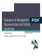 e and m Coding Guidelines