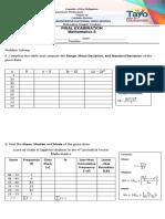 Math 8 Final exam