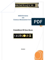 Chem Gold III User Guide