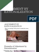 Adjusment by Rationalization