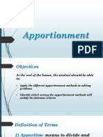7.Apportionment