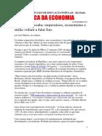 Análise  econômico-política setembro de 2019