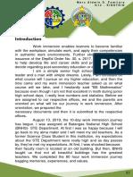 Sample Work Immersion Portfolio