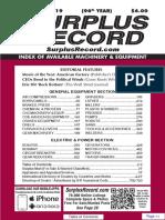 NOVEMBER 2019 Surplus Record Machinery & Equipment Directory