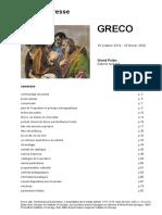 Rétrospective Greco au Grand Palais, Paris