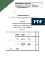 procedimiento de instalacion de tuberia HDPE GO-PSETS-PO-38 Instalaci¾n de Tuberias HDPE LT 220 kV Rev1